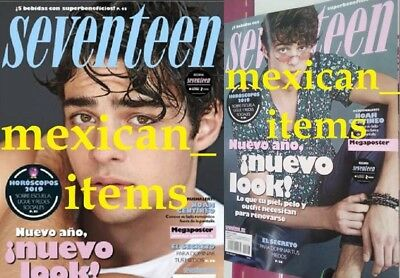New Noah Centineo Seventeen Lot Of 2 Mexican Magazines 2019 Mexico Spanish