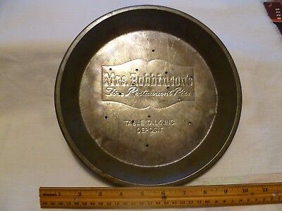 VINTAGE METAL PIE TIN or PAN MRS. ROBINSON''S 9.5""