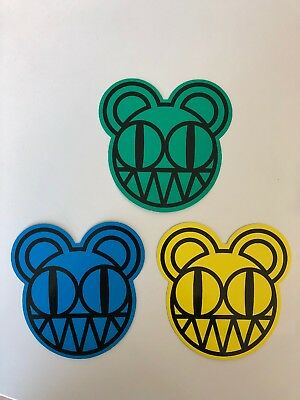 Radiohead Bear Logo Sticker Set - rare