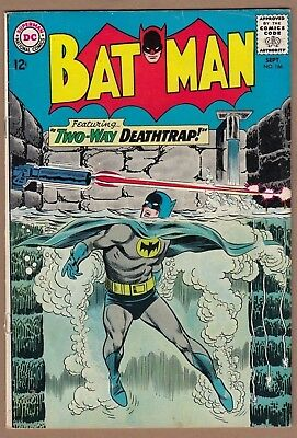 Batman #166 (DC-1964) * Infantino cover*  FN Nice! Solid!  -combine ship-