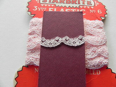 Card of New Lace - Pink