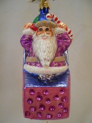 "Radko  ""nick In The Box""  98-207-0  1998  6""  Santa Character  Candy Cane"