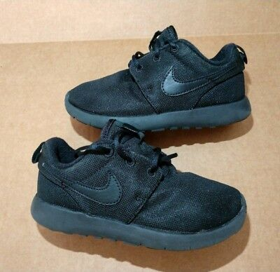 9e016b5526ff Nike Roshe One Kids Size 12C Black Pre-school Athletic Shoes 749427-031