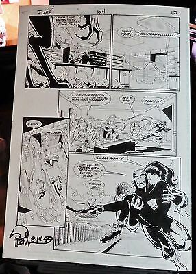 Flash #104 Page 13 1995 Original Comic Art-Signed By Robinson-Werewolf-Action