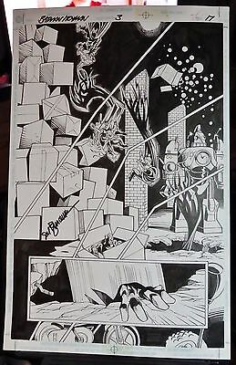 Batman / Toyman #3 Pg 17 1998 Original Comic Art Splash-Sal Buscema Inker-Signed