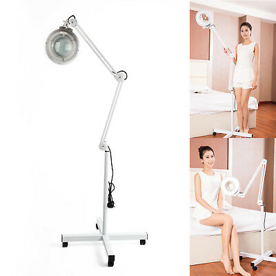 Floor Magnifier Magnifying Lamp Light Skincare Beauty Nail Manicure Tattoo Salon