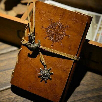 Vintage Classic Retro Leather Journal Travel Notepad Notebook Brown Diary 1PCS