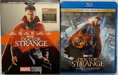 Marvel Doctor Strange Blu Ray Dvd 2 Disc Set + Rare Walmart Exclusive Slipcover