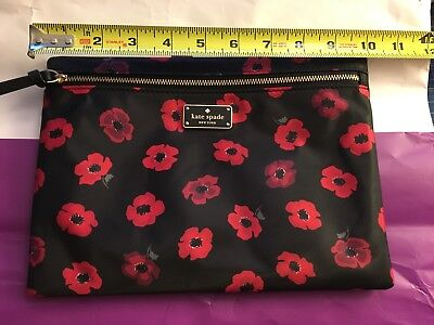 7b5474e4cb NWT Kate Spade Floral Cosmetic Bag Make-Up Case Pouch Large Drewe Free  Shipping