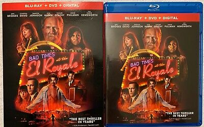 Bad Times At The El Royale Blu Ray Dvd 2 Disc Set + Slipcover Sleeve Free Shippi