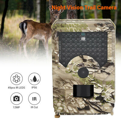 HD 1080P Hunting Camera Trail Infrared Night Vision Camcorder Scouting Wildlife