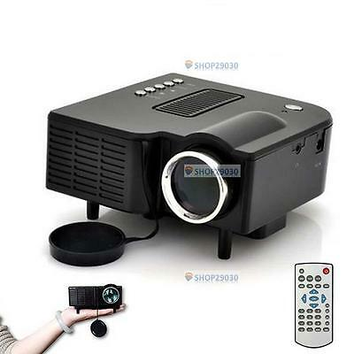 HD 1080P LED Multimedia Projector Home Theater Cinema AV TV VGA HDMI USB SD FV