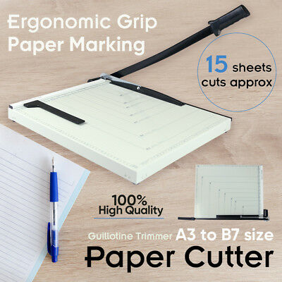 Size L Portable A3 To B7 Paper Photo Cutter Guillotine Trimmer Knife Metal Base