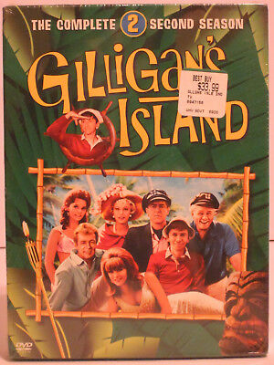 Gilligan's Island - The Complete Second Season 3-Disc DVD Set New in Plastic