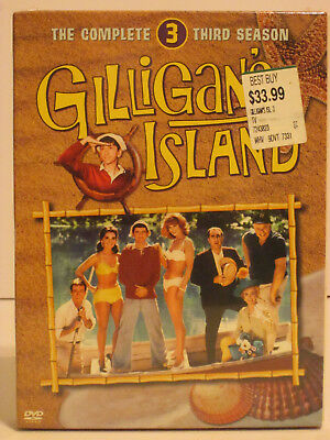 Gilligan's Island - The Complete Third Season 3-Disc DVD Set New in Plastic