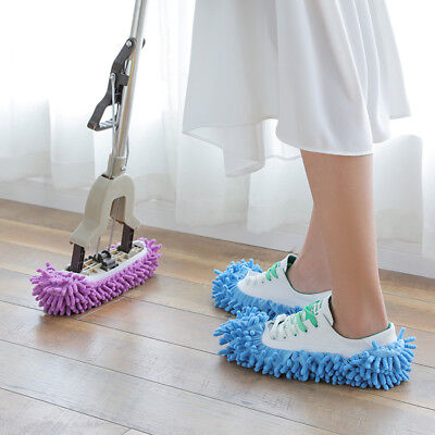 Home DIY Mop Slippers Lazy Floor Foot Socks Shoes Quick Polishing Cleaning Dust