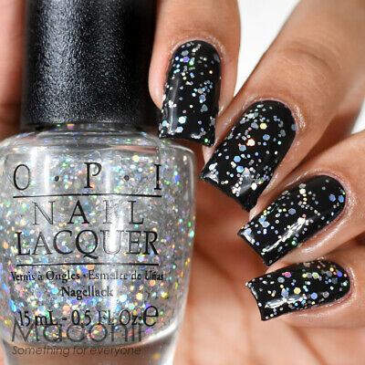 OPI Snowflakes In The Air - Silver Holo Holographic Hologram Glitter Nail Polish