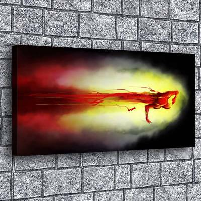 """12""""x24"""" The Flash Abstract HD Canvas Print Painting Home Decor room Wall Picture"""