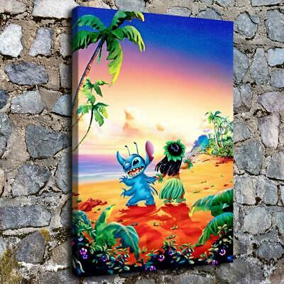 Lilo & Stitch HD Canvas Print Painting Home Decor room Wall Art Picture 956