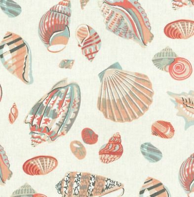 WAVERLY SEA SHELLS FABRIC Cotton Duck Upholstery Fabric - By the Yard