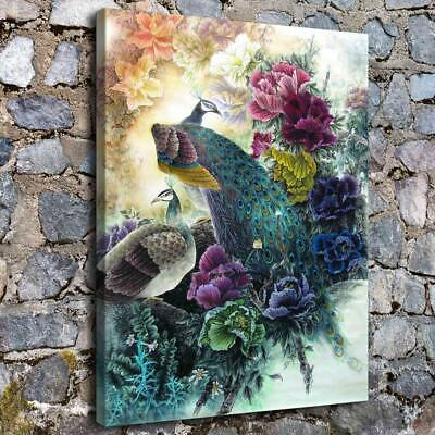 Classic Peacock HD Canvas Print Painting Home Decor room Wall Art Picture 455