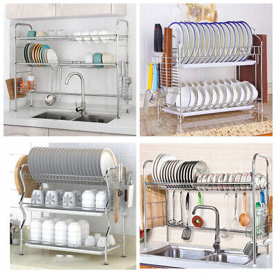 Dish Drying Rack Cutlery Holder Storage of Stainless Steel with Chopstick Holder