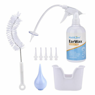 Ear Wax Remover Bottle Ear Washer Lavage System Cleanser Safety/Replacement Tube