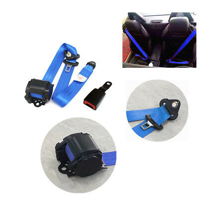 NEW Car Truck Seat Belt Lap 3 Point Safety Adjustable Retractable Auto Universal