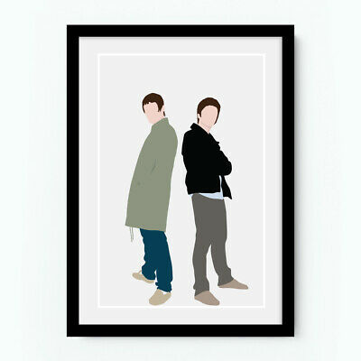 LIAM and NOEL GALLAGHER Oasis Minimal Poster Music Print