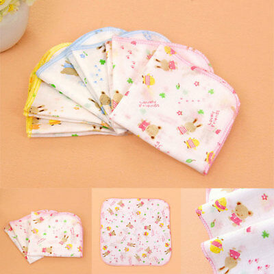 3Pcs Baby NewBorn Gauze 100% Cotton Bath Wash Handkerchief Towel
