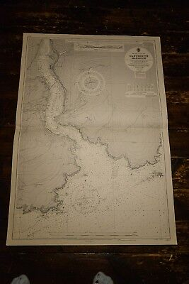 DARTMOUTH HARBOUR 1960 Large Nautical Plan Map Chart  HYDRGRAPHIC OFFICE
