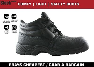 Safety Work Boots S1P with Steel Toe Cap and Steel Midsole Memory Foam Insoles