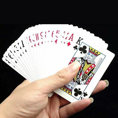 WATERPROOF PLASTIC COATED PLAYING CARDS Poker Gaming Casino Magic Professional