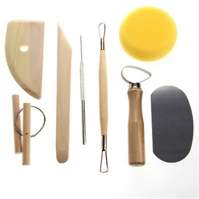 8 Piece Wax pottery Clay soap Carving Sculptor Modelling Tools Wood Metal SO