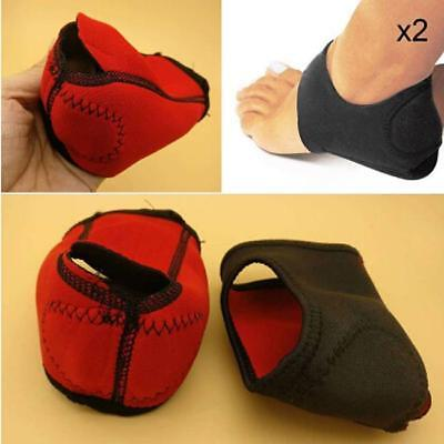 2Pcs Plantar Fasciitis Heel Arch Support Foot Pain Relief Sleeve Cushion Wrap SO