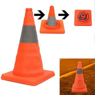 Fold Traffic Road Cone Telescopic Reflective Tape Warning Sign Safety Witches SO