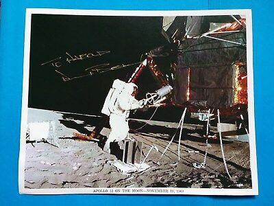 ALAN BEAN  Apollo 12  NASA Astronaut SIGNED AUTOGRAPHED 8X10  - Moonwalker