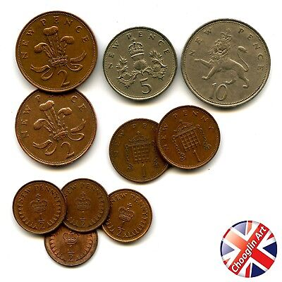 A collection of British 1971 ELIZABETH II coins