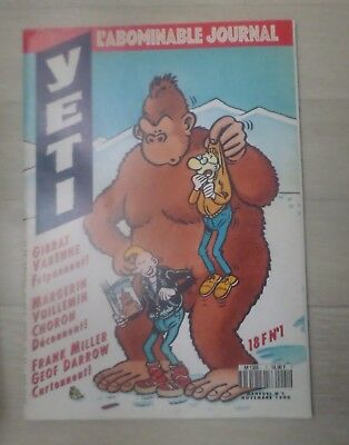 Yeti. N° 1. Nov. 1990. L'abominable Journal - Collectif - 1990