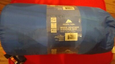 Ozark Trail Warm Weather Sleeping Bag Blue/gray New In Bag 50 Degrees 33 X 75