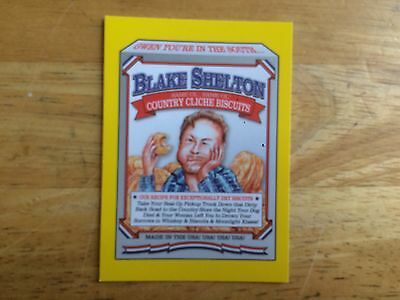 2017 Wacky Packages 50Th Anniversary Yellow Sticker Blake Shelton Country Food 5