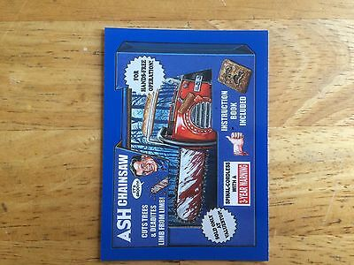 2017 Wacky Packages 50Th Anniversary Blue Sticker Evil Dead Ash Chainsaw Gory 3