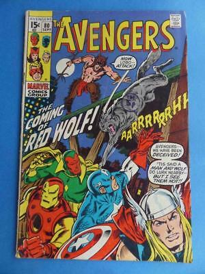 Avengers 80 1970 1St Red Wolf!