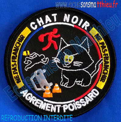 Ecusson CHAT NOIR BLACK CAT Gendarmerie nationale patch france collection