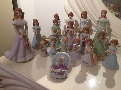 Vintage 1982 Enesco Growing up Girls Birthday Collection