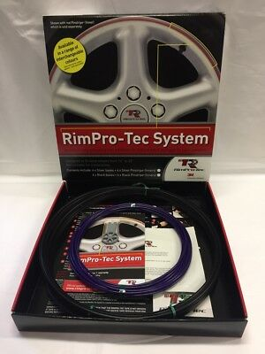 "Alloy Wheel Rim Protectors (Rim-Pro Tec)  4 X 14""-22"" Black With Purple Insert"