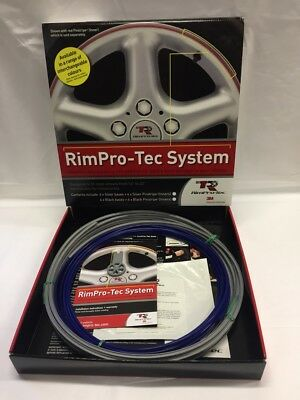 "Alloy Wheel Rim Protector (Rim-Pro Tec) 4 X 14""-22"" Silver With Dark Blue Insert"