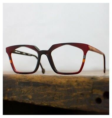 L.A. EYEWORKS Sir Lady 315 Rosso Nero Occhiali Montatura Vista Authentic 51/19