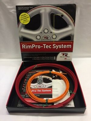 "Alloy Wheel Rim Protectors (Rim-Pro Tec) 4 X 14""-22"" Red With Orange Insert"