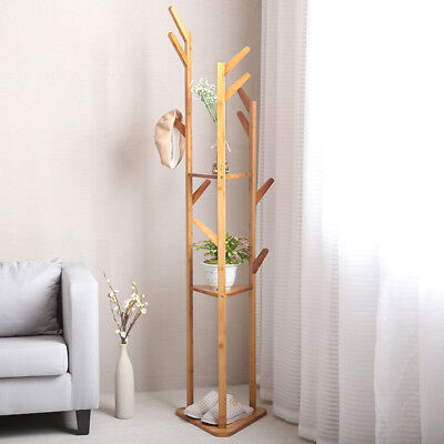 Coat Rack Free Standing Hat Jacket Hanger Holder for Home Corner Outdoor Room